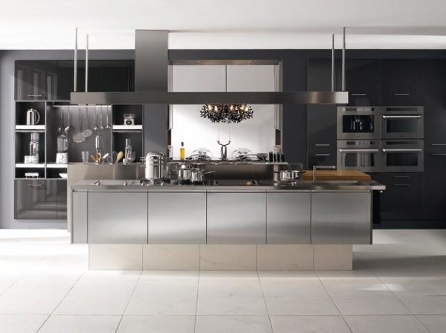 L 39 acier inoxydable utilis de l 39 industrie la vie courante cours - Cuisine en inox ikea ...